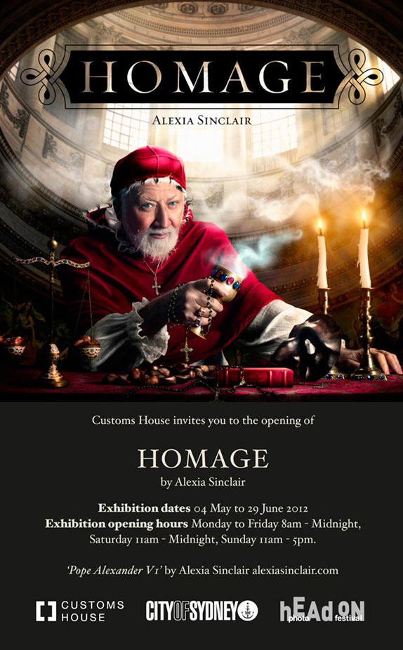 Homage Exhibition Invitation