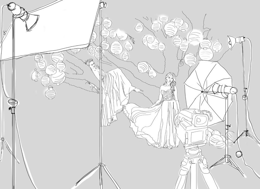 Lighting sketch – Alexia Sinclair
