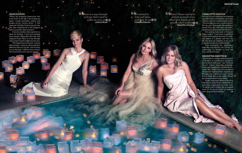 Jessica Rowe, Charlotte Dawson, Samantha Armytage by Alexia Sinclair